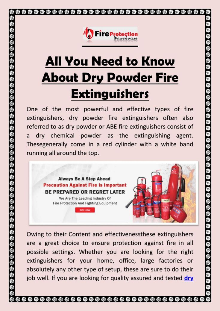 All you need to know about dry powder fire extinguishers