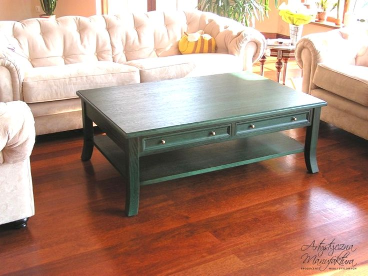 Stolik kawowy, coffee table, wooden coffee table with drawers