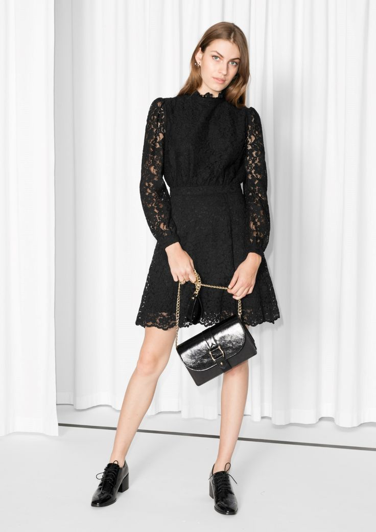 & Other Stories image 2 of Little Black Lace Dress  in Black