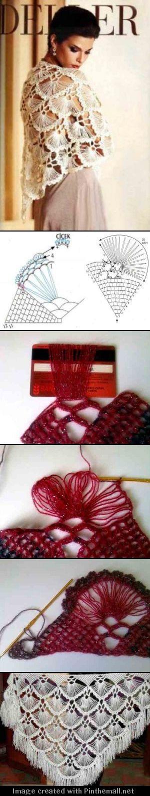 hairpin crochet lace shawl