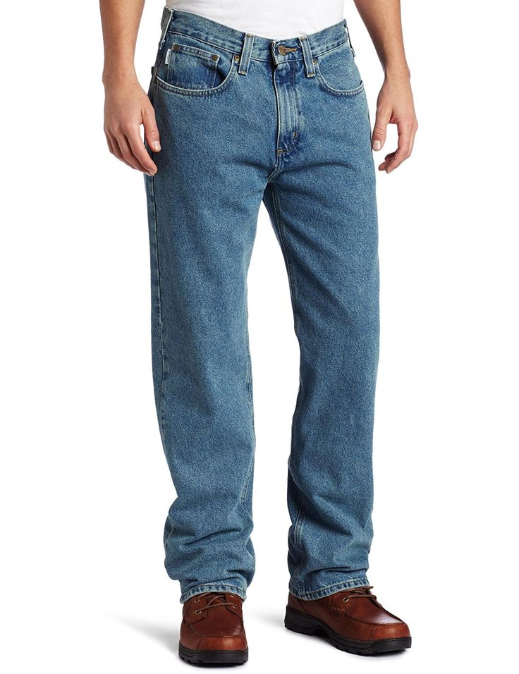Carhartt Men's Relaxed Straight Denim Five Pocket Jean B460 *** To view further, visit now : Carhartt Boots