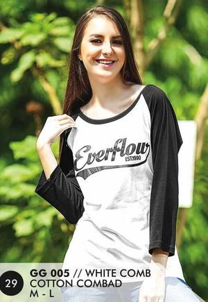 Kaos Long T Shirt Wanita Casual dan Trendy [GG 005] (Brand Everflow) Free Ongkir