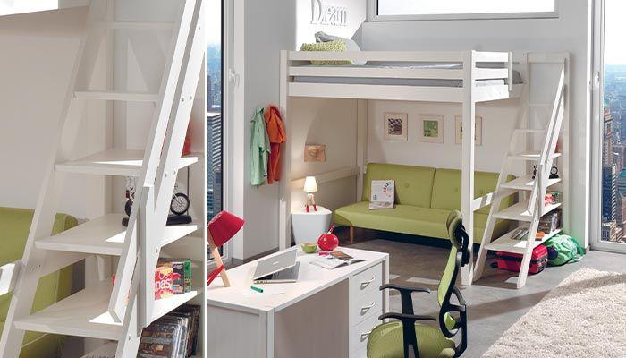 Mezannine loft chambres pinterest compact mezzanine et loft - Lit cocktail scandinave ...