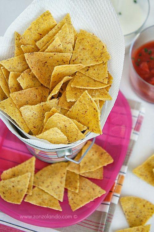 Tortillas chips di farina di mais gialla - Yellow cornmeal tortillas chips | From Zonzolando.com