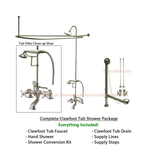 22 best images about Clawfoot Tub Shower on Pinterest Satin