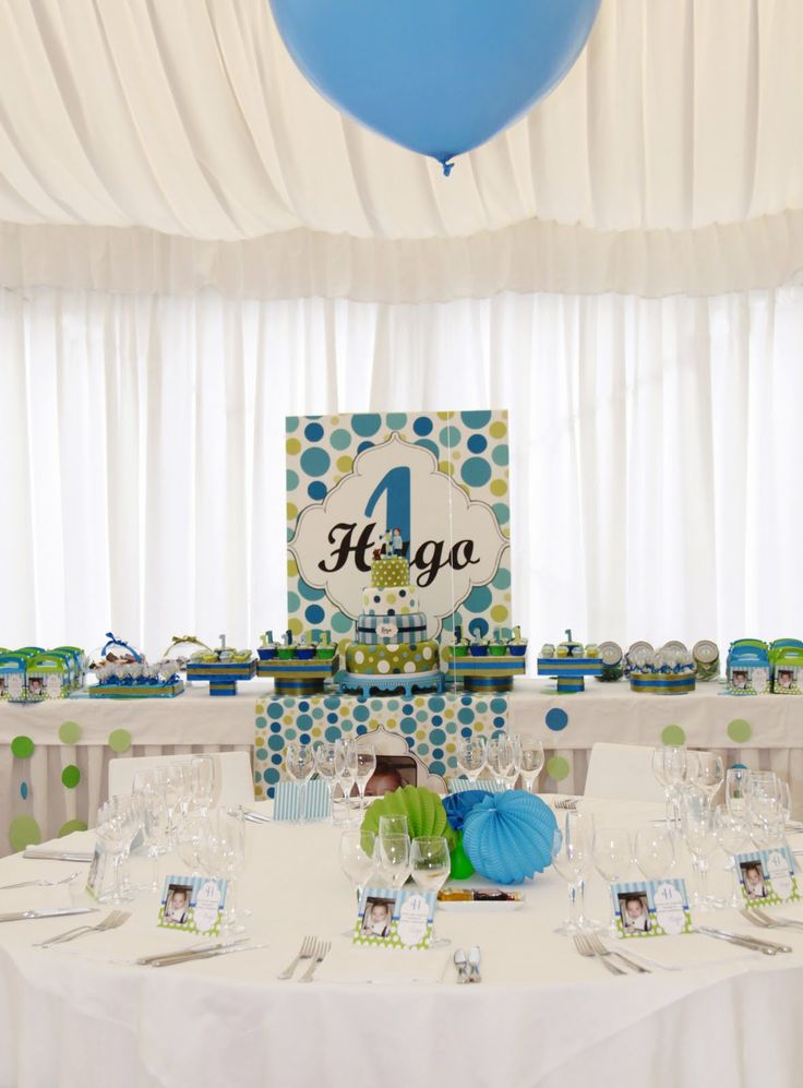 green and blue baby shower inspirations