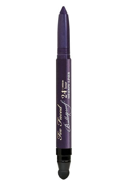 """""""Purple Rain""""Second only to his head of gorgeous curls, Prince was known to rock a mean defined eye. This liner allows you to trace and smudge a deep purple pigment onto your lids in honor of the Purple One. Too Faced Bulletproof Liner with Sharpener and Blending Ball in Purple Rain, $22, available at HSN. #refinery29 http://www.refinery29.com/2016/04/109027/prince-inspired-makeup-looks#slide-1"""