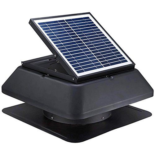 Gbgs Solar Attic Fan 1750 Cfm Adjustable Polycrystalline Solar Panel Rust Free Roof Mounted Easy Installation No Solar Attic Fan Tesla Solar Roof Attic Fan