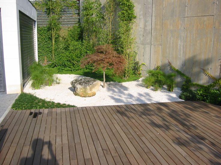 jardines pequeos modernos diseo jardines jardn interior terraza baldosas mimbre huerto paisajismo