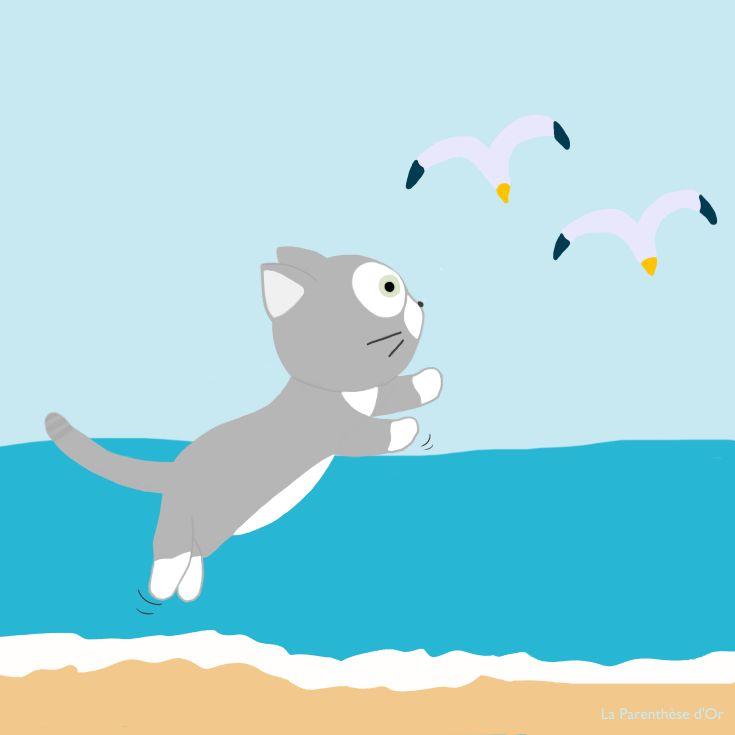 Gribouille à la mer