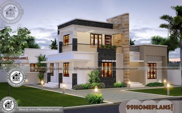 Contemporary House Plans Two Story With Flat Roof New Indian Designs Modern Contemporary House Plans Two Story House Plans Modern House Design