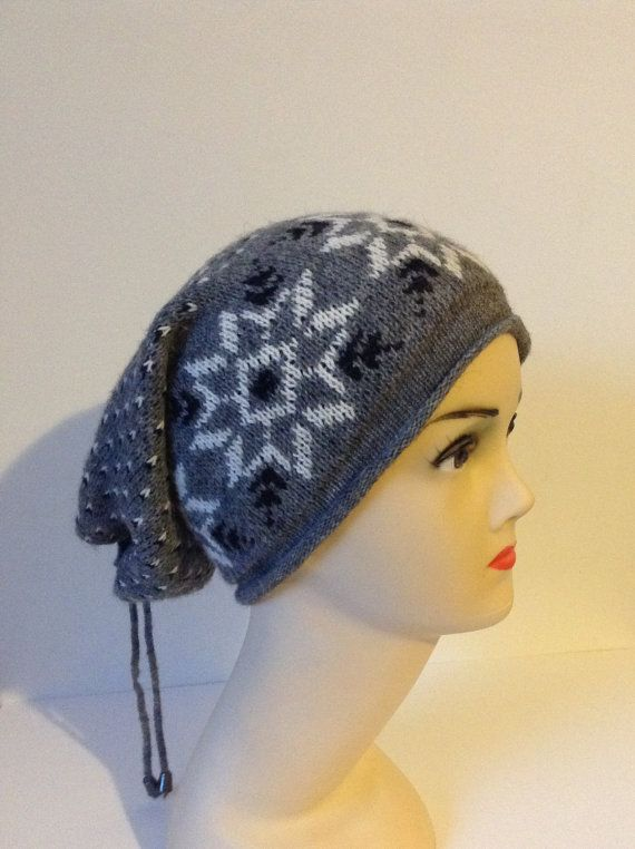 UnisexWinter hatsBerethat grayslouchy hats by TSColorfulWorld