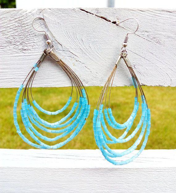 Layered Earrings Long Beach Earrings Egyptian Earrings