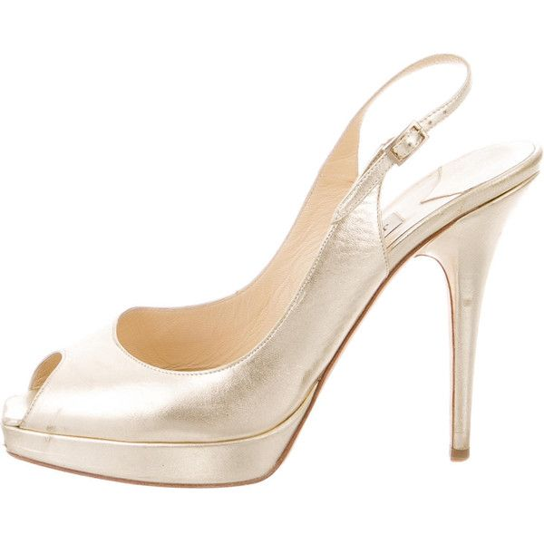 good selling cheap online Jimmy Choo Peep-Toe Buckle-Accented Pumps visit new online discount 100% authentic mhNVeGFu