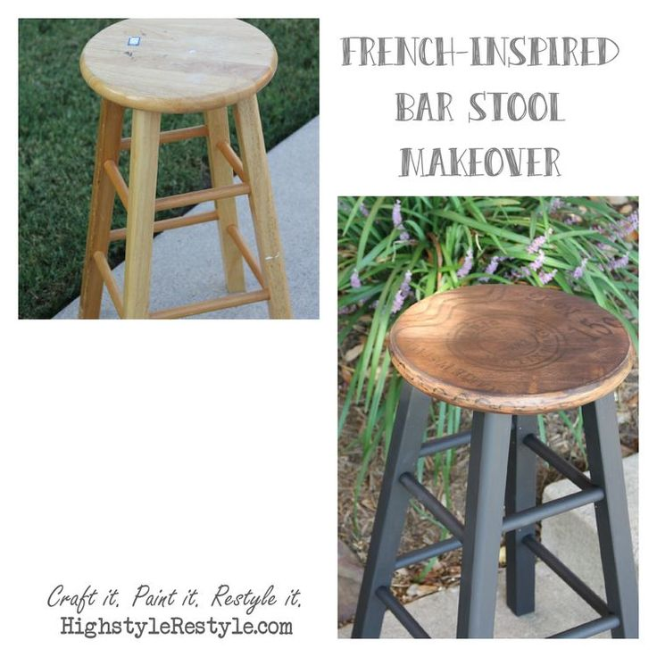 French-Inspired Bar Stool Makeover — High Style ReStyle