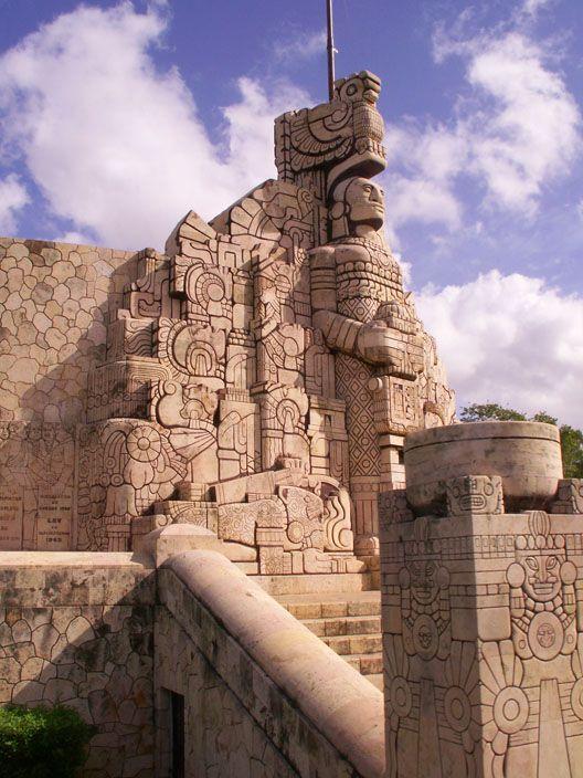Monumento a la Patria on Paseo Montejo, Mérida, Mexico.