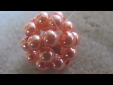 How to Make a Beaded Bead Using Right Angle Weave Double Needle Method - YouTube