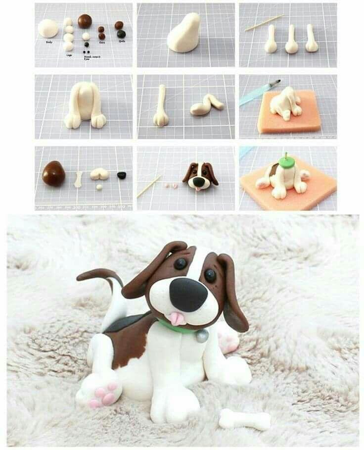 Sugarpaste dog tutorial