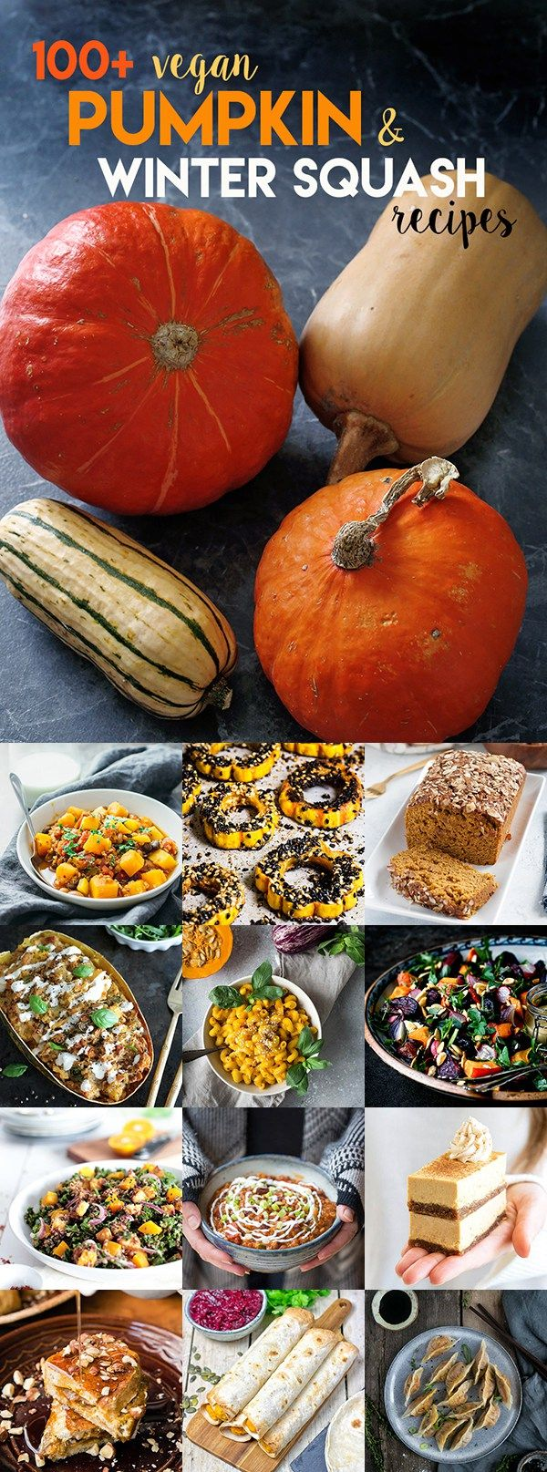100+ Delicious Vegan Pumpkin & Squash Recipes - Sweet or savoury, healthy or comfort food, quick or festive, whatever you like I have a recipe for you.