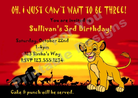 36 best Dylan 1st birthday images – Lion King Birthday Card