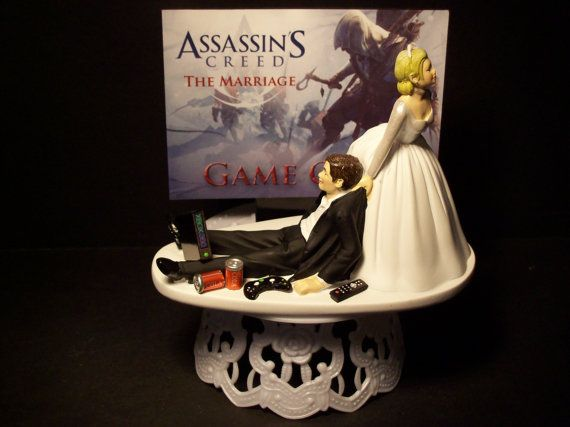 Video Game Assassins Creed Bride and Groom Funny by mikeg1968, $69.99