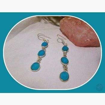 No More Blues Chalcedony Sterling Silver Earrings