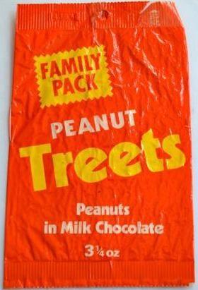 Mars Peanut Treets family pack 1970s