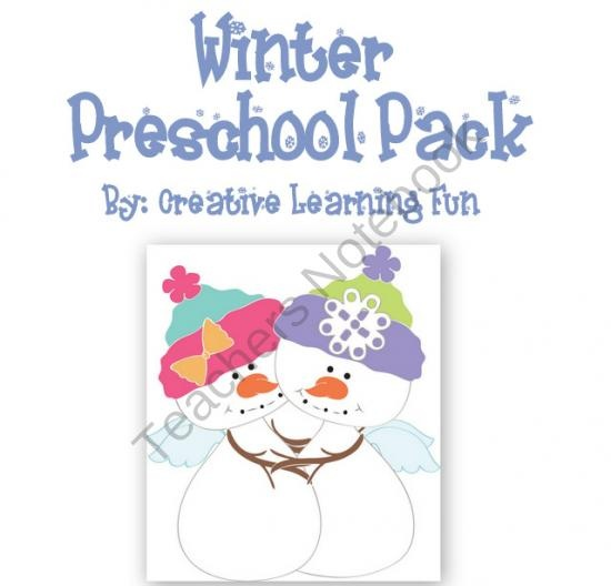 Super cute Winter themed preschool pack by Creative Learning Fun. 132 pages of hands on activities (plus file folder games!)