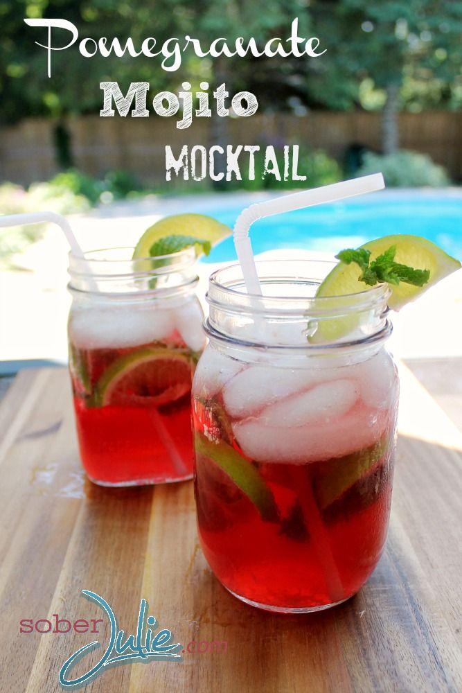 Pomegranate Mojito // Mojito de Romã #mocktail