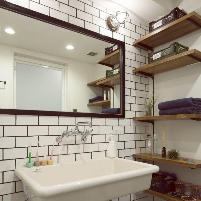 do_thee_boogieさんの、洗面所,サブウェイタイル,リノベーション,のお部屋写真