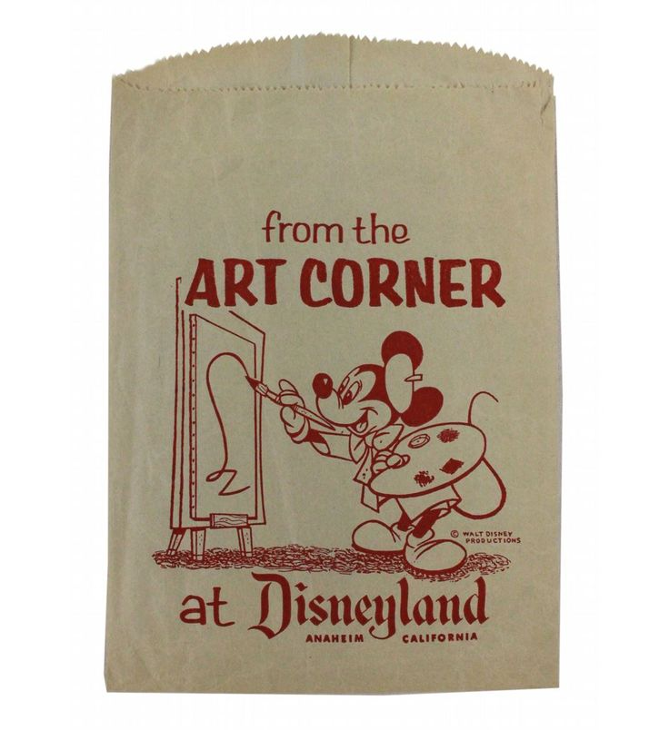 Art Corner Graphic Disneyland Shopping Bag.