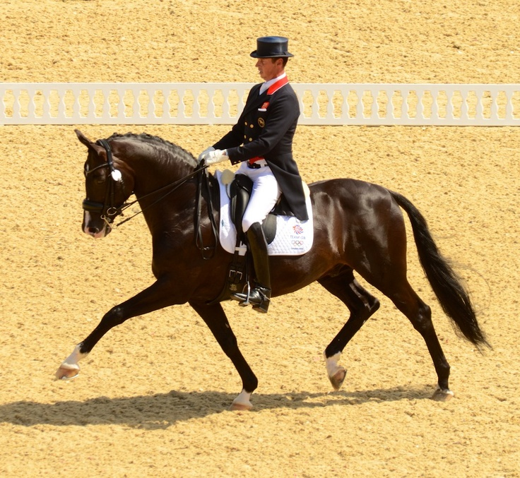 Great Britain's Carl Hester and Uthopia lead the GP standings with 77.720 percent. Photo by Jennifer Bryant.