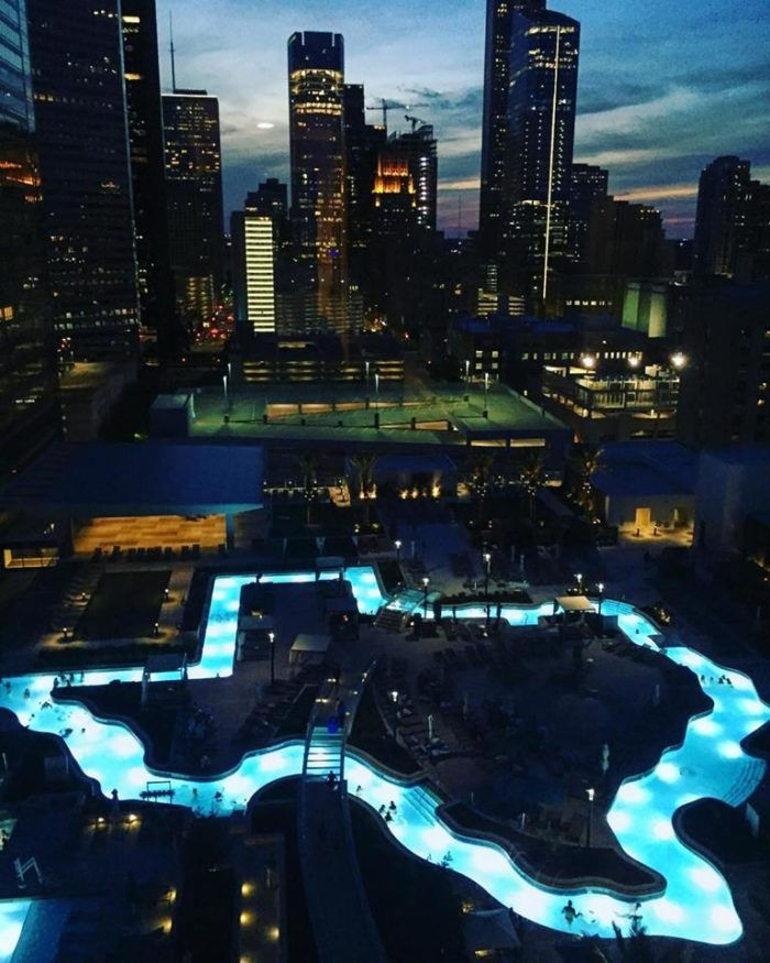 This Texas Shaped Lazy River Is Finally Open To The Public Houston Texas Skyline Houston Hotels Texas Shaped