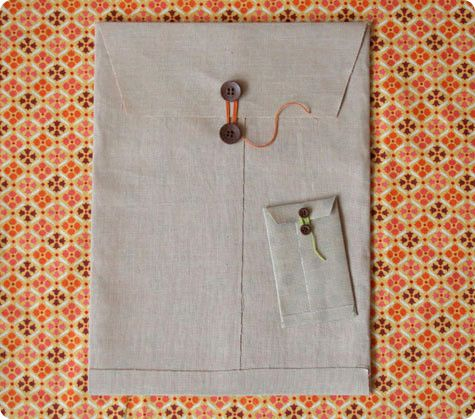 Tutorial & Template:  Fabric Envelopes
