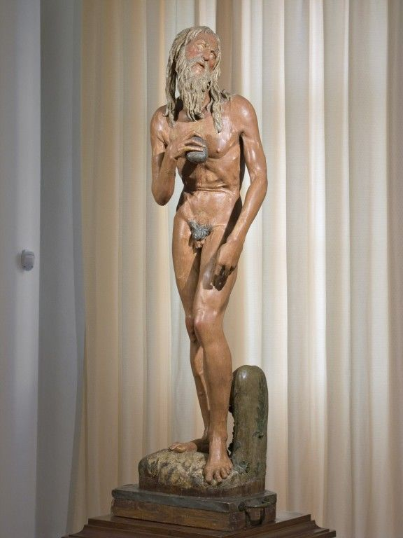 Donatello S.Girolamo legno policromo, cm. 141x35x26, n. inv. 168
