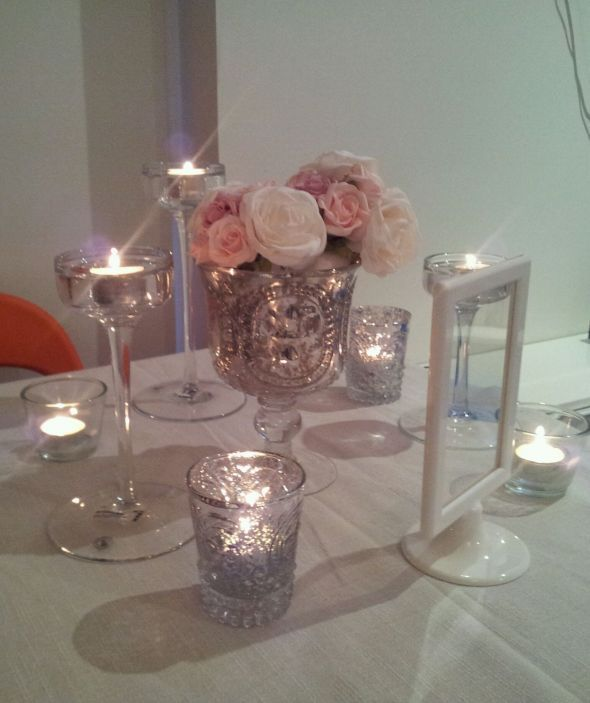 Mercury glass receptions and blush on pinterest