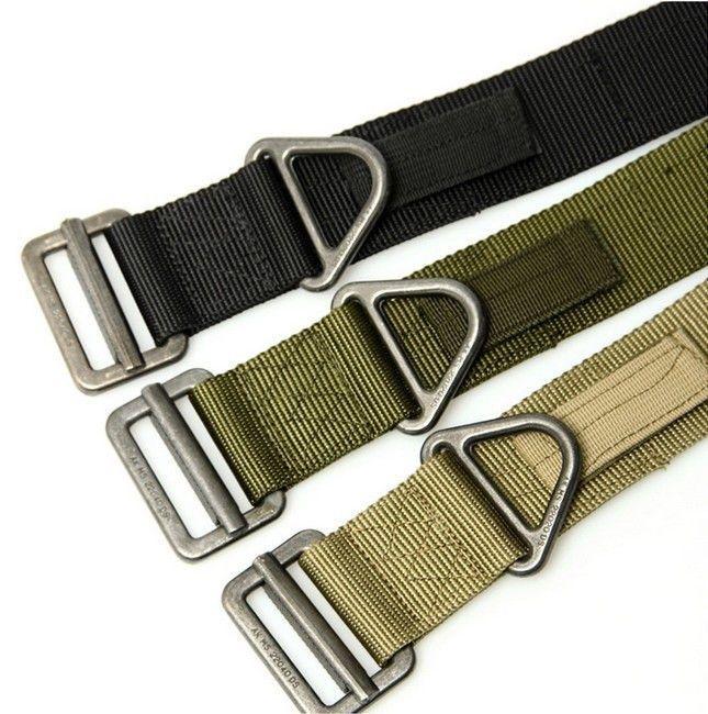 Men Combat Duty Rescue Rigger Belt Militaria Military Survival Tactical Belt