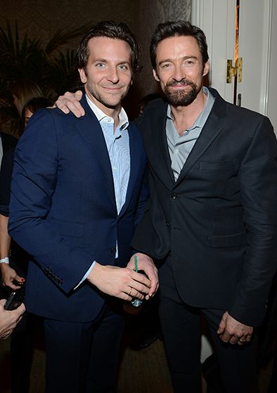 Bradley Cooper and Hugh Jackman, who are both nominated for Best Actor in a Musical or Comedy at the Golden Globes, posed together at the BAFTA Los Angeles 2013 Awards Season Tea Party at the Four Seasons Hotel on Jan. 12.