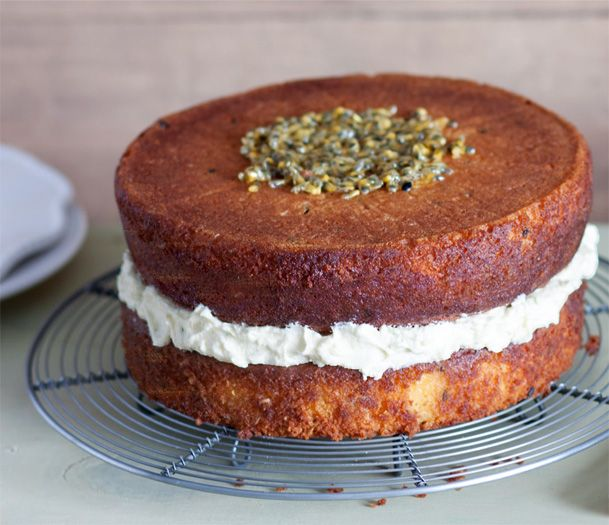 Looking for a crowd-pleasing gluten-free cake? Try this moist passionfruit and coconut version