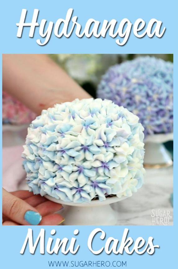 Hydrangea Mini Cakes – gorgeous cakes decorated to…