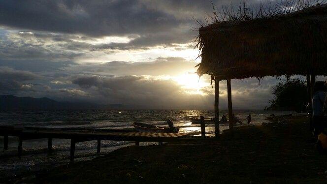 Sunset in Alotau