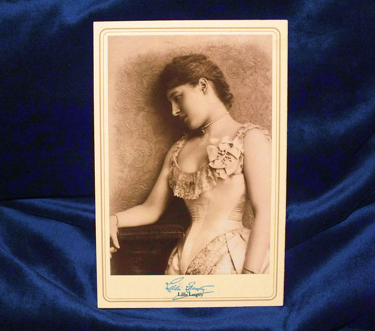 Actress Beauty Lillie Langtry Cabinet Card Photograph Vintage History CDV