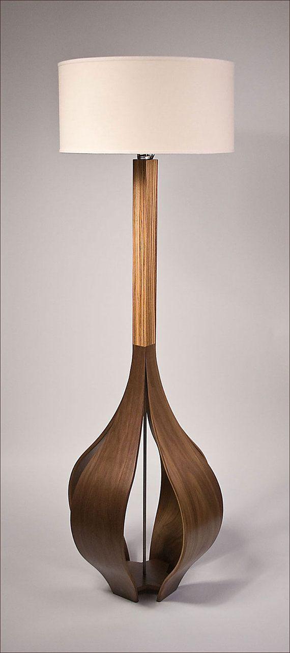 The Allium Floor Lamp in Walnut