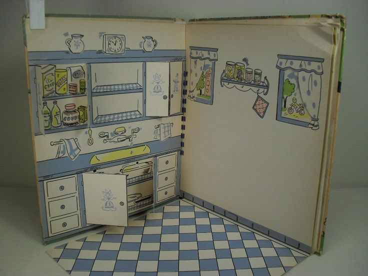 """Vintage Pop-Up book - """"Doll House"""" by Marion Moss - 1946 http://www.pinterest.com/grma117/paper-stuff/"""