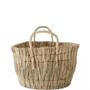 Seagrass Basket with Handles - Small