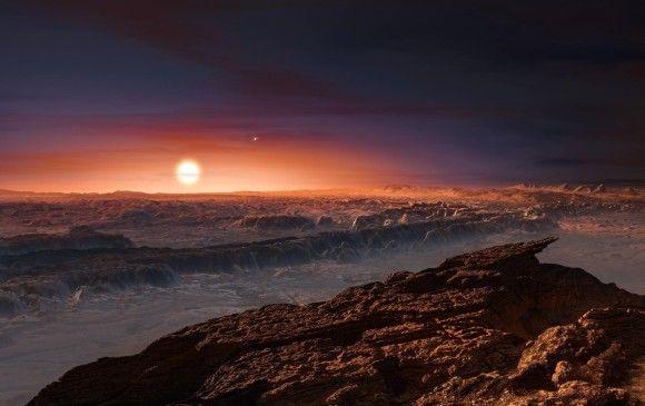 """Las dimensiones y las propiedades de Próxima b favorecen su """"habitabilidad"""", pues se trataría de un planeta de """"tipo océano"""" con una temperatura que permitiría la vida. FOTO AFP"""