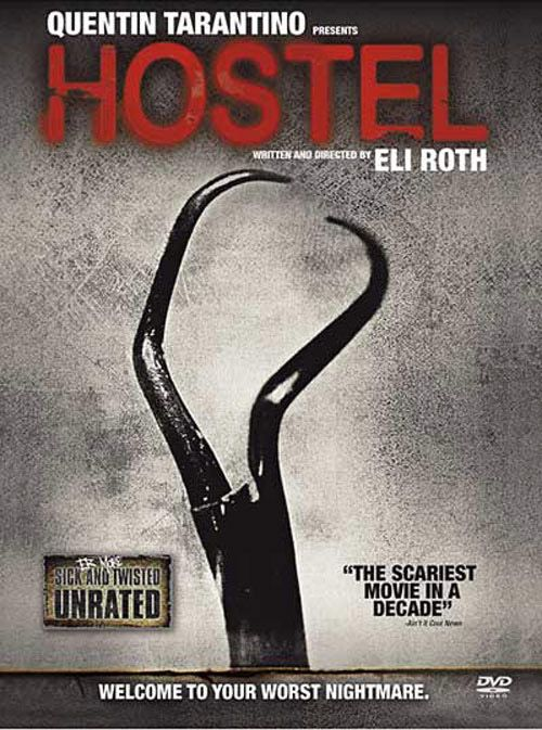 "Hostel- A different brand of scary. Not the ""he's going to jump out of the closet with a dagger"" scary but instead your most twisted, deranged nightmare kind of scary.  Left me with an unsettled feeling."