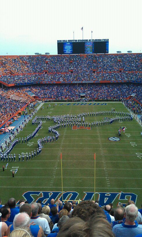 If doesn't get any better than this !! Florida Gator Football in Gainesville