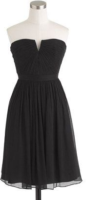 $109, Black Chiffon Party Dress: J.Crew Nadia Dress In Silk Chiffon. Sold by J.Crew. Click for more info: http://lookastic.com/women/shop_items/78914/redirect