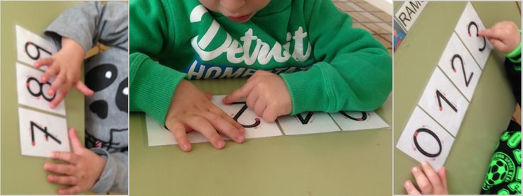 Abans de començar a fer els números amb el llapis... Primer hem de resseguir-los... exerimentant el traç amb el tou del dit ;)